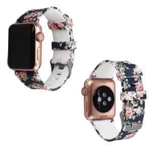 Accessories - Floral Silicone Apple Watch Band